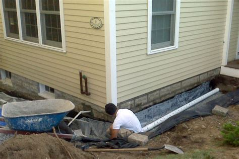 how to build a drain exterior drain systems