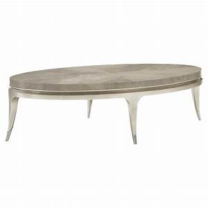 miranda modern classic silver leaf brushed chrome oval With brushed silver coffee table