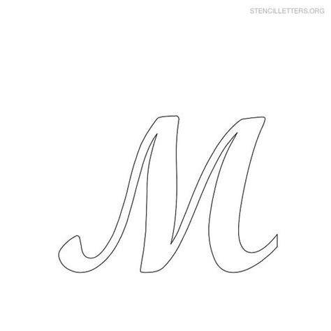 printable letter stencils stencil letter  printables