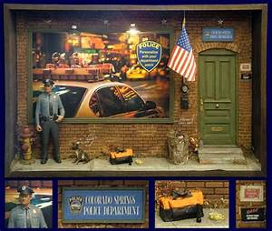 Law Enforcement Shadowbox Street Scene – Sculpture by ...