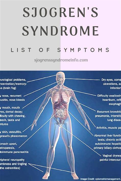 Sjogren's Syndrome Symptoms | List of Sjogren's Symptoms