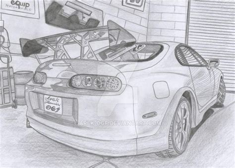 Toyota Supra Mk Iv In Garage By Arek-ogf On Deviantart