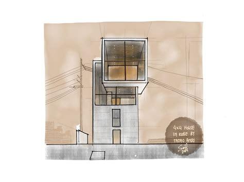 the simplicity of 4x4 house in by tadao ando sketches archi design tadao o archi