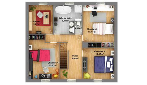 plan de maison a etage moderne plans de maisons maison laure constructeur r 233 gion centre
