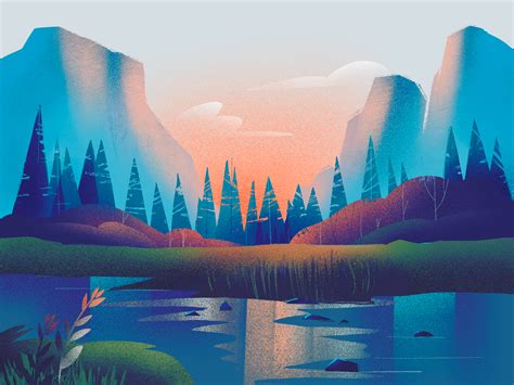 Nature Gradients Illustration by tubik.arts on Dribbble