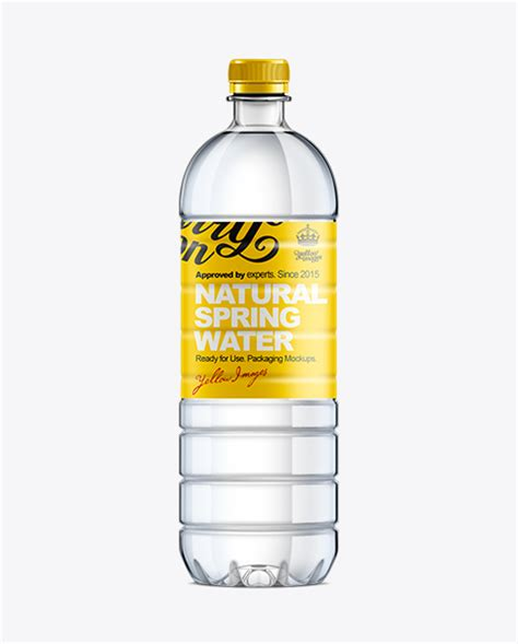 Bottle, clear, clear plastic, exclusive, fish, fish oil, fitness nutrition, healthcare, high quality metallized pills bottle mockup. 1L Plastic Water Bottle MockUp in Bottle Mockups on Yellow ...