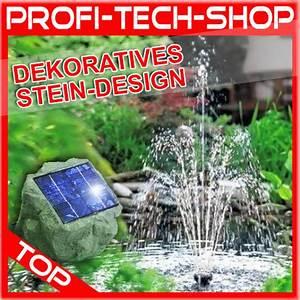 Stein Deko Garten : teichpumpe solarpumpe gartenteich springbrunnen solar ~ Whattoseeinmadrid.com Haus und Dekorationen