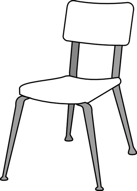 dessin chaise white classroom chair clip at clker com vector clip