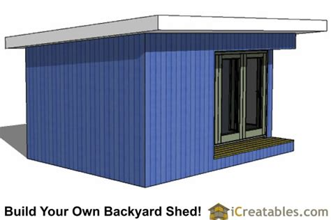modern shed plans build  backyard office space
