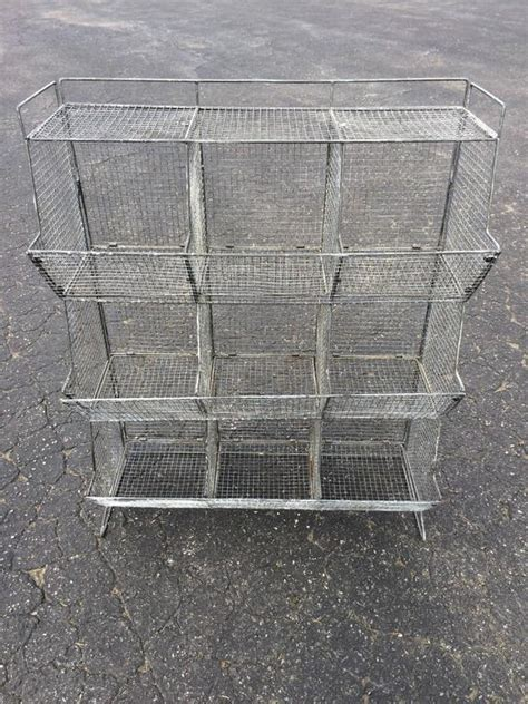 Industrial Style Wire Mesh Storage Bin at 1stdibs