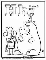 Coloring Letter Pages Story Hat Bots Hippo Activities Sheets Storybots Alphabet Colouring Activity Books Letters Sheet Preschool Week Hello Huge sketch template