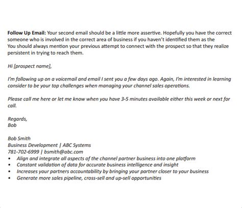 sample follow  emails  examples format