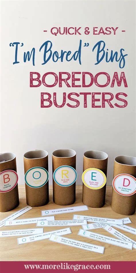 Free Printable Boredom Busters in 2020 Boredom busters