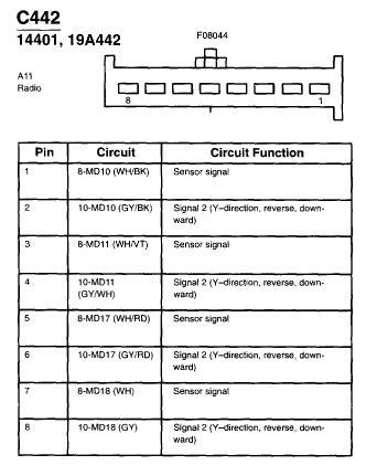 2002 ford focus radio wiring diagram