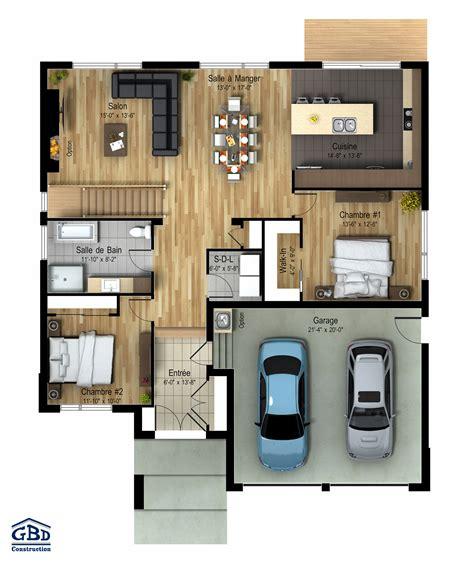 construction cuisine maison neuve à un étage de type plain pied gbd