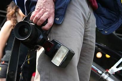 Photographer Police Cameras Press