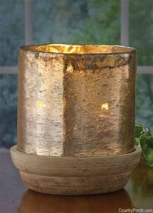 Mango Wood Candle Holder with Glass