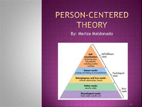 personality theories person centered theory m maldonado