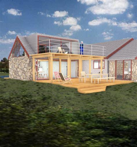 house extension  bungalow  raised terrace wwwgreenheartarchitectscouk extension