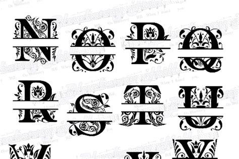 regal split monogram letters svg regal split monogram letters rega  blueberry hill art