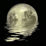 Full Moon Reflection On Water