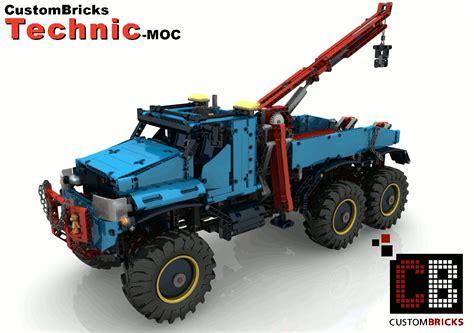 cb self made building rc 6x6 tow sbrick for lego technic