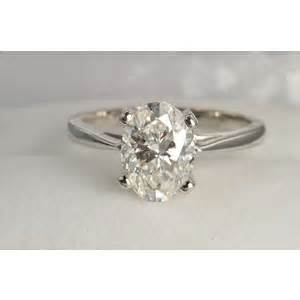 2 carat oval solitaire ring certified polyvore - 3 Carat Solitaire Engagement Ring