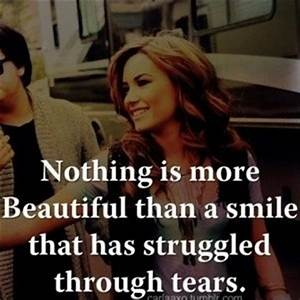 nothing is more beautiful than a smile that has struggled ...