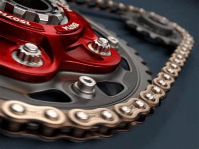 Chain Animated Links Gifs Bike Gold Biting