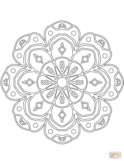 abstract mandala coloring page  printable coloring pages