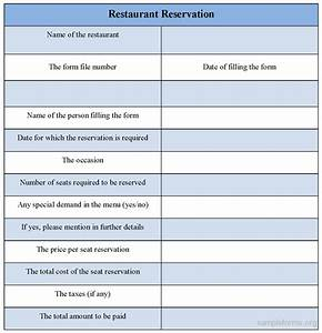 restaurant reservation sheet template - search results for printable reservation sheet