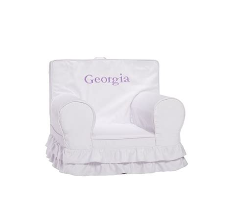 oversized anywhere chair slipcover only ruffle anywhere chair slipcover only pottery barn