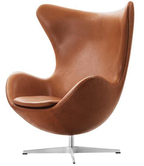 designer sessel egg easy chair leather