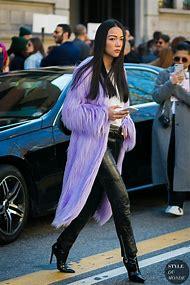 Purple Fashion Week Street-Style