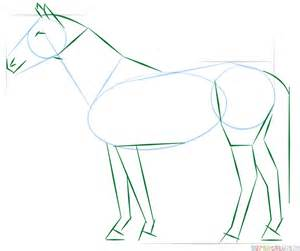 How to draw a realistic horse standing | Step by step ...