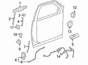 Gmc Sierra 1500 Door Latch Cable  Lock  Locks  Front