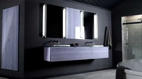 Stylish Vanity With Robern Medicine Cabinets