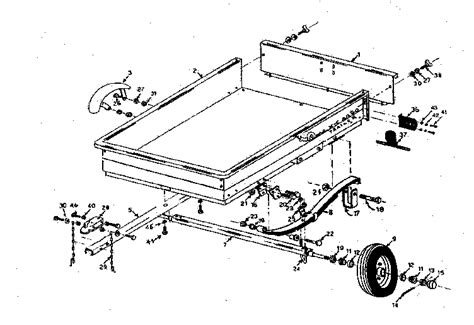 kenmore sears two wheel utility trailer parts 28761500 sears partsdirect