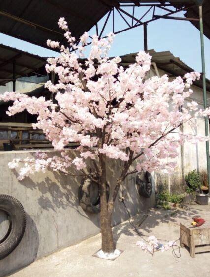 white artificial cherry blossom tree fake cherry flower
