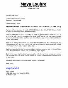 invitation letter for us visa b2 tourist