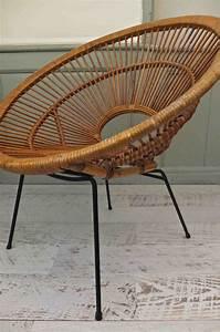 Fauteuil Rotin Design : slavia vintage mobilier vintage fauteuil en rotin janine abraham des ann es 50 punta sirena ~ Nature-et-papiers.com Idées de Décoration