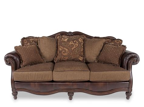 ashley furniture sofa and loveseat claremore antique collection 84303 ashley sofa loveseat set