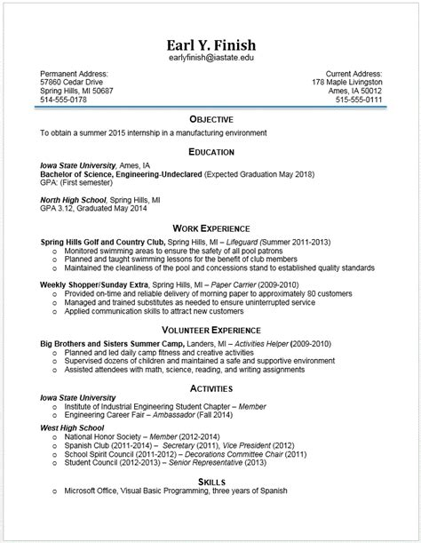 Gpa On Resume Engineering by Exle Resumes Engineering Career Services Iowa State