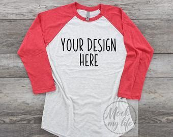 Tracing back the roots, the hoodies were first familiar among the. Next Level 6051 Red Raglan Flat Lay Mockup / Shirt Mockup ...