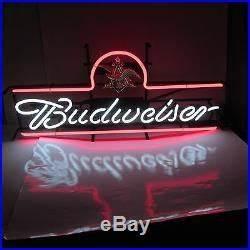 Vintage BUDWEISER Beer Sign NEON LIGHTED Bud USA