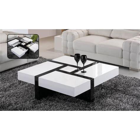 lade da salotto moderne table basse laqu 201 e noir et blanc emilie achat vente