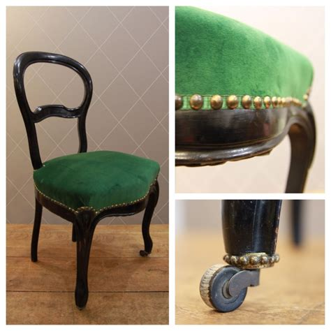 Galon Tapissier Pour Fauteuil by Chaise Napol 233 On Iii En Velours Vert Finition Galon Clout 233