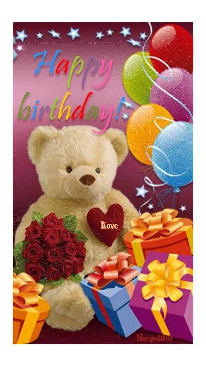 Birthday Happy Bear Teddy Animated Gifs Wishes