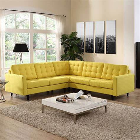yellow living room furniture modern house
