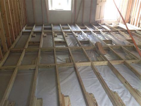 framing  floor  concrete carpentry contractor talk